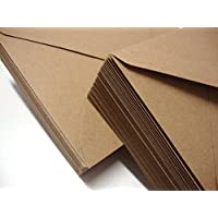 100 155x155mm (6x6) Kraft 100% Recycled Envelopes by Cranberry Card Company