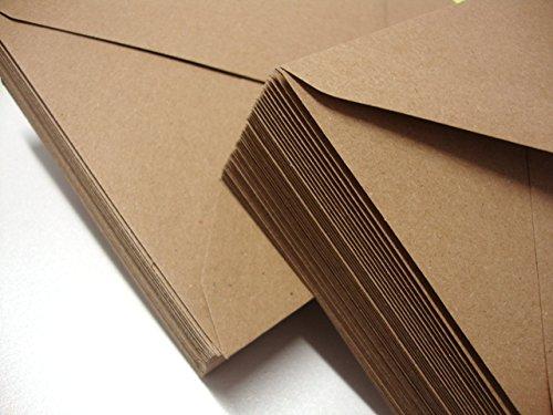 Sobres de papel de estraza de Cranberry Card Company, tamaño C5, de calidad, color marrón