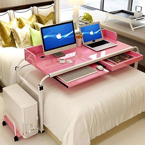 ybaymy verstellbar 1,2m über Bett Tisch Schreibtisch Computer Tisch Ständer Workstation für Home Office mit Rollen Mobilität Tablett Möbel