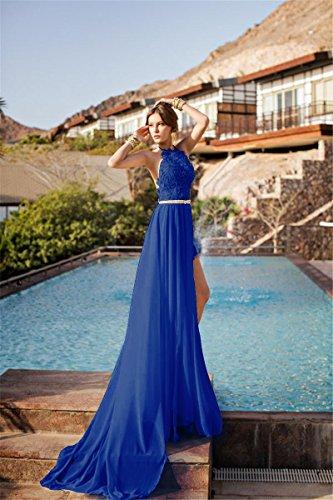 Babyonlinedress Damen Neckholder Rückenfrei Lang Abendkleid Brautjungfernkleid Maxikleid 2017 Royal-Blau