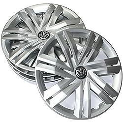 Volkswagen 2G0071454 Hub Caps 14 Inch Wheel Trims Set (4 Pieces) Wheel Trims Caps