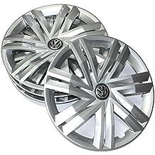 Volkswagen 2 g0071454 Juego Tapacubos (4 unidades) Juego 14 pulgadas tapacubos TAPACUBOS metálicos Brillant