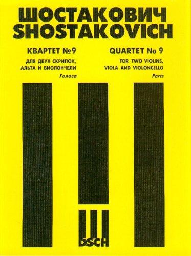 String Quartet No. 9. Op. 117. Book Set of Parts.