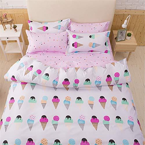 YUNSW Cartoon Tierdruck Bettbezug Erwachsene Kinder Twin Voll Königin King Size Heimtextilien Decke Bettbezug C 200x200 cm (Dünne Gummi-blatt)