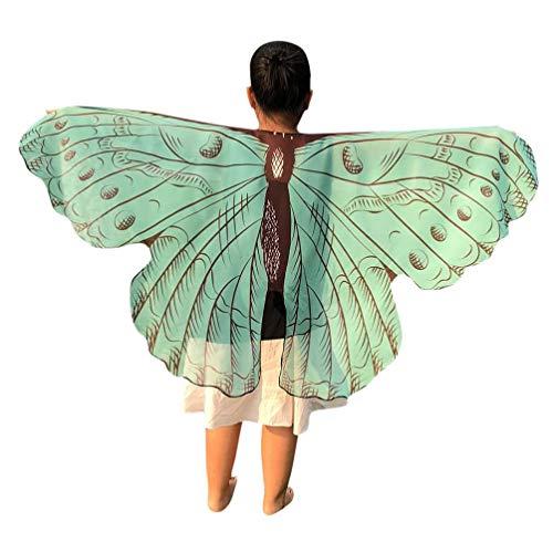 Quaan Halloween Kinder Karikatur Schmetterling Drucken Flügel Schals -