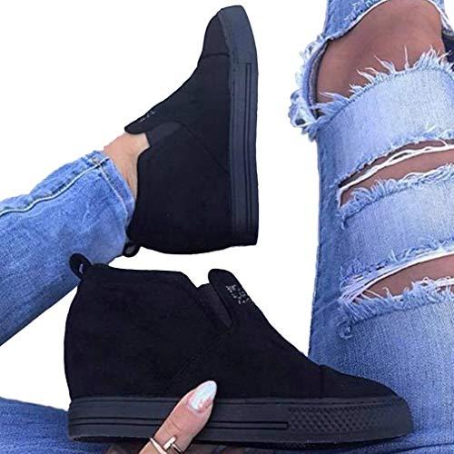 Frauen Schuhe Martin Stiefel Mode Wildleder Booties Elegant Einfarbig Booties Keilschuhe Gummi Martin Stiefel High Heels Rosa/Blau / Schwarz 36-43