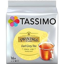 Tassimo Dosette Thé - Twinings Earl Grey - 80 boissons (Lot de 5x16 T DISCs)