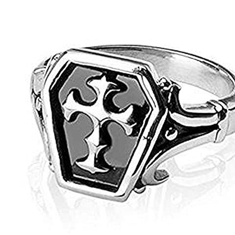 SIZE 9 ( R ) Celtic Cross Surgical Stainless Steel Chunky Finger Ring