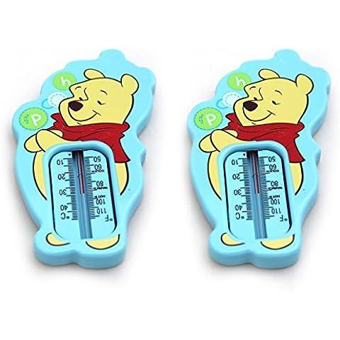 2unidades Winnie the Pooh termómetro de baño (azul)–precisa comprobador de temperatura del