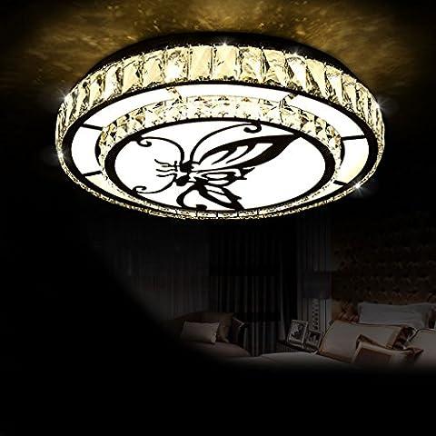 MOREY Cristal Luz Ronda Romántico Dormitorio Maestro Luz Moderno Estudio De La Atmósfera Minimalista Led Lámpara Del Techo Iluminación Del Restaurante