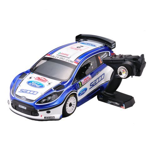 Kyosho - 30881RS - Radio Commande, Véhicule Miniature et Circuit - DRX VE Ford Fiesta S2000 Readyset Electrique 4WD - KT200 2,4 Ghz