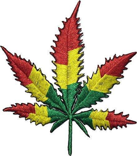 Marijuana Leaf Weed Sew auf Eisen auf Patch Applikation Bestickt-Multicolor - Multi-color Patch