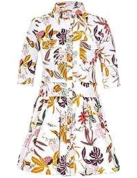 Naughty Ninos Girls' Shirt Knee-Long Dress