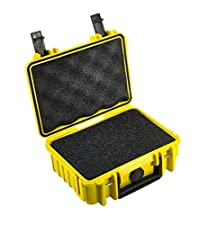 Outdoor Case with Sponge Insert f/ Camera, 2L, Yellow