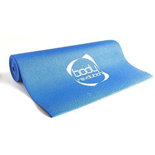 Alfombra antideslizante para yoga y pilates, azul o morado, azul