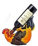 Drinking Rooster Wine Bottle Holder Stat...