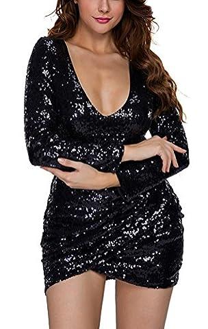 SunIfSnow - Robe spécial grossesse - Moulante - Uni - Manches Longues - Femme - noir - Small