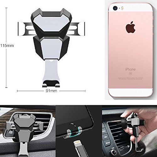K S Trade For Apple IPhone SE Compact Bracket Vent Mount Ventilation Grille  Slot Black