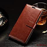 NKARTA Samsung Galaxy J2 2015 Flip Cover, Vintage PU Leather Wallet Book Cover Case for Samsung Galaxy J2 2015 (Brown)