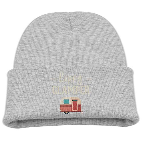 Fashion Funny Cap hat Happy Glamper Unisex Beanie Cap Black