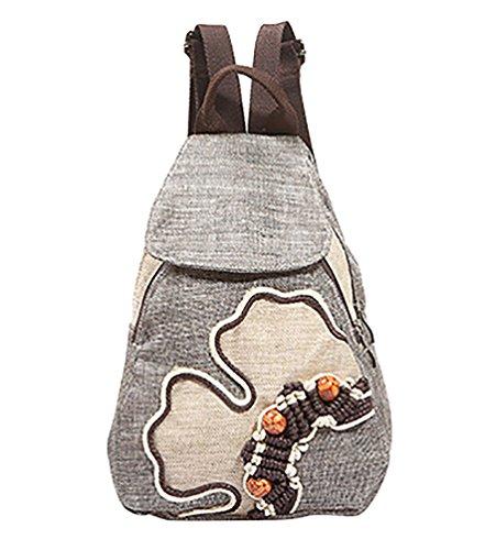 Imagen de yaancun mujer pequeños bolsa para escolares  de colegio bolsos de tela casual bolsos de viaje  con tejeduría flores