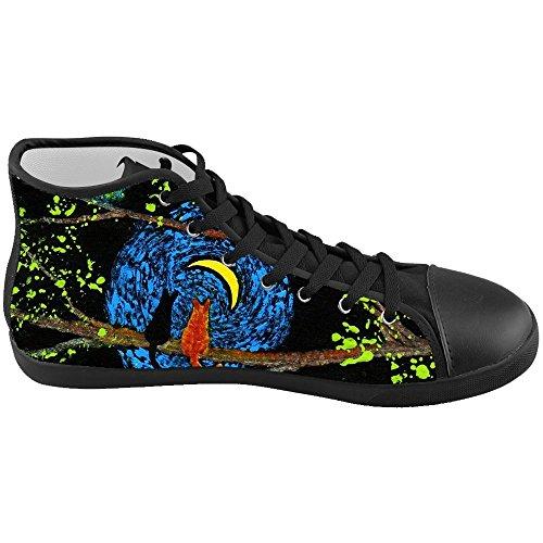 Dalliy s¨¹?e katze Men's Canvas shoes Schuhe Lace-up High-top Footwear Sneakers D