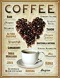 Other Herz Kaffee Blech Schild Normal 40cm x 32cm 034-1844