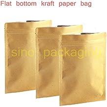 15x21 cm : 50pcs/lot Flat bottom Kraft Paper Heat Seal pouch Durable Reusable Survivalist Baggies (Herbs Seeds Tea Coffee) free shipping