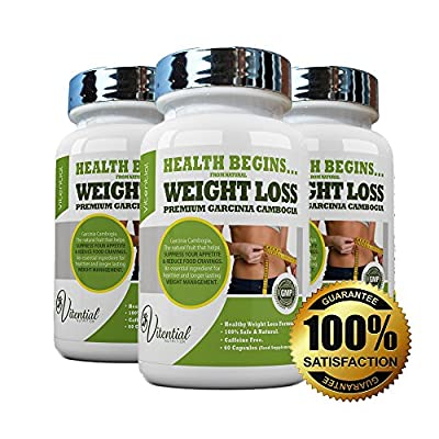 Vitential Nutrition Garcinia Cambogia | High Strength Premium Quality | A Natural Healthy Way to Lose Weight | Caffeine Free | 1 Months' Supply (60 Capsules) | UK Produced | ? 100% MONEY BACK GUARANTEE ? from Vitential Limited