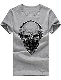 LHWY Camiseta de Manga Corta con Estampado de Bulb Para Hombre Camiseta de Algodón de Talla Grande Blusa de Cuello EN O Tops…