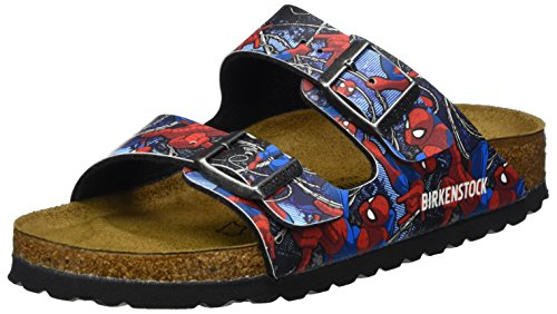 Birkenstock Kids Jungen Arizona Pantoletten, Mehrfarbig (Spiderman Action Blue), 33 EU