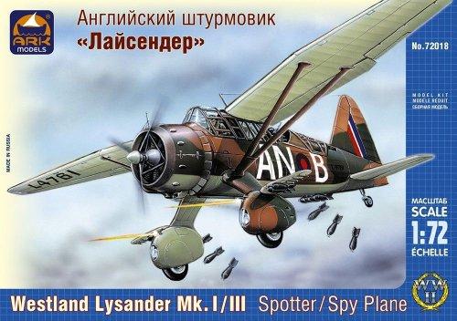 ARK Models AK72018 - Westland Lysander Mk.I/III Spy Plane