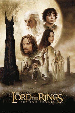 Click for larger image of 1art1® Posters: The Lord Of The Rings Poster - Two Towers One Sheet (36 x 24 inches)
