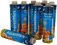 PEony Water Filter Cartridge Aqua 9 Inch Sediment 8 Pc Pack Set for Aquaguard Nova
