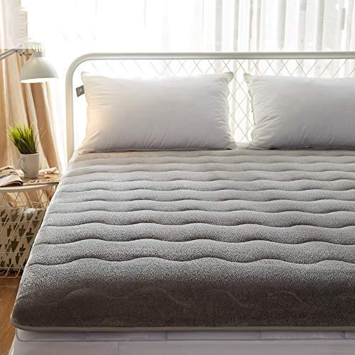 JR%L Ultra Soft Traditionellen Japaner Futonbett Matratze, Flanell Dick Premium Matratzenauflage Folding Baumwolle Gepolstert Topper-Abdeckung-b 180x200x3cm (Matratze-abdeckungen Dick Gepolsterte)