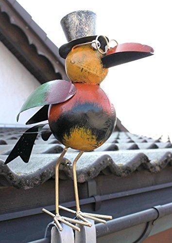 Vogel Möwe aus Metall 8919CU Dachschmuck für die Dachrinne 42 cm CU