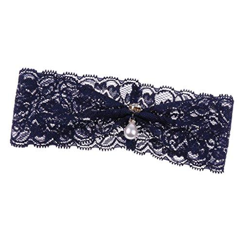 Magideal giarrettiere da donna in perle cristallo da sposa di pizzo prom accessori da donna