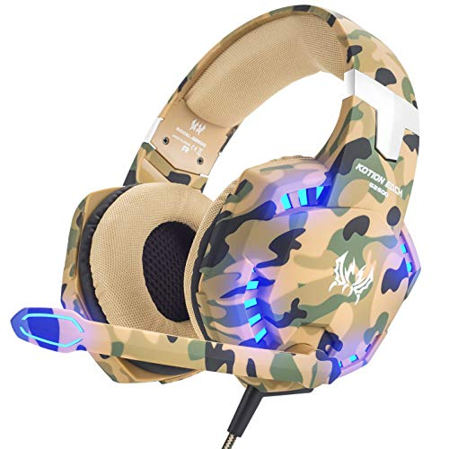 VersionTECH  Gaming headset for PS4 Xbox One PC Headphones with Microphone  LED Light Noise Cancellation Over Ear Compatible with Nintendo Switch