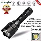 HCFKJ 5000Lm C8 CREE XM-L T6 LED 18650 Taschenlampe 5 Modus Taschenlampe Taktische Licht Lampe