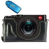 First2savvv XJPT-TYP109-D01G10 Gehäusehälfte präzise Passform PU-Leder Kameratasche Fall Tasche Cover für Leica D-LUX (Typ 109) mit SD-Kartenleser
