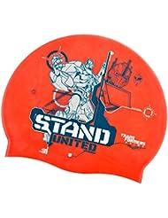 Vision One - Gorro de natación para niño, diseño de Transformers rojo rojo Talla:medium