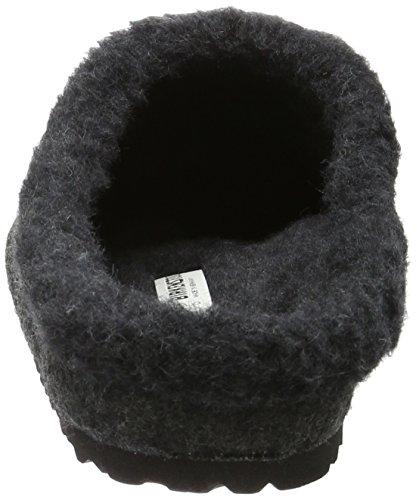 Birkenstock Unisex-Erwachsene Kaprun Lammfell Clogs Grau (Anthracite)