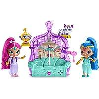 Shimmer And Shine Disney Trono con 2 muñecas, 43 x 28 x 8 cm (Mattel FFN39)