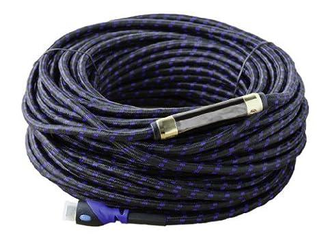 Multi-Câble HDMI a Haute Performance avec Ethernet 1.4a (30M) – Certifié Catégorie 2 – Soutien 3D & Chaine Audio Retour(ARC) – Haute Définitions