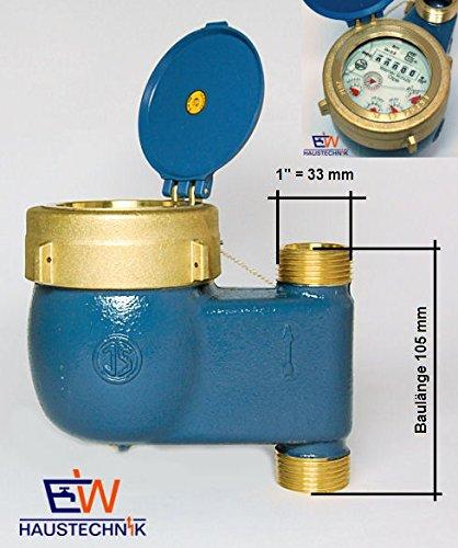 """Preisvergleich Produktbild Schütz Steigrohrwasserzähler Hauswasserzähler Wasseruhr Nassläufer 3 / 4"""" bis 30°C"""