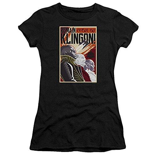 Star Trek Remain Klingson Poster Women's Sheer Fitted T Shirt