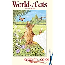 World of Cats to Paint or Color (Dover Pictorial Archives)