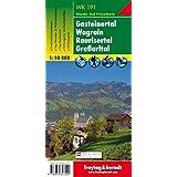 Gasteinertal - Wagrain - Raurisertal - Großarltal, Wanderkarte 1:50.000, WK 191: Wandel- en fietskaart 1:50 000 (freytag & berndt Wander-Rad-Freizeitkarten)