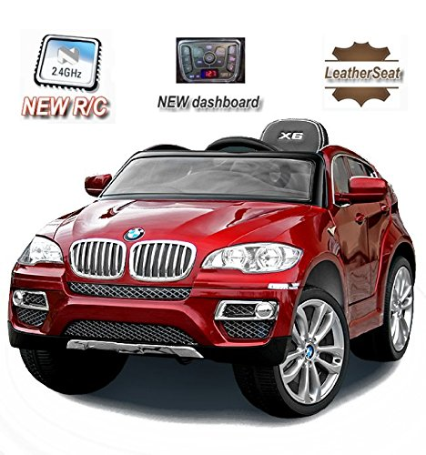 BMW X6 Original licenza, Rosso Laccato Luxury, 2x Motore, Radio FM, SD Card, 12 V della Batteria, con 2,4 GHz Telecomando, con Chiave, Macchina bambino, Macchine e Moto elettriche, Veicoli Elettrici, Veicolo