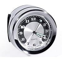 Lenkeruhr Metall Chrom Big Motorrad Uhr großes Ziffernblatt f. Harley Honda BMW